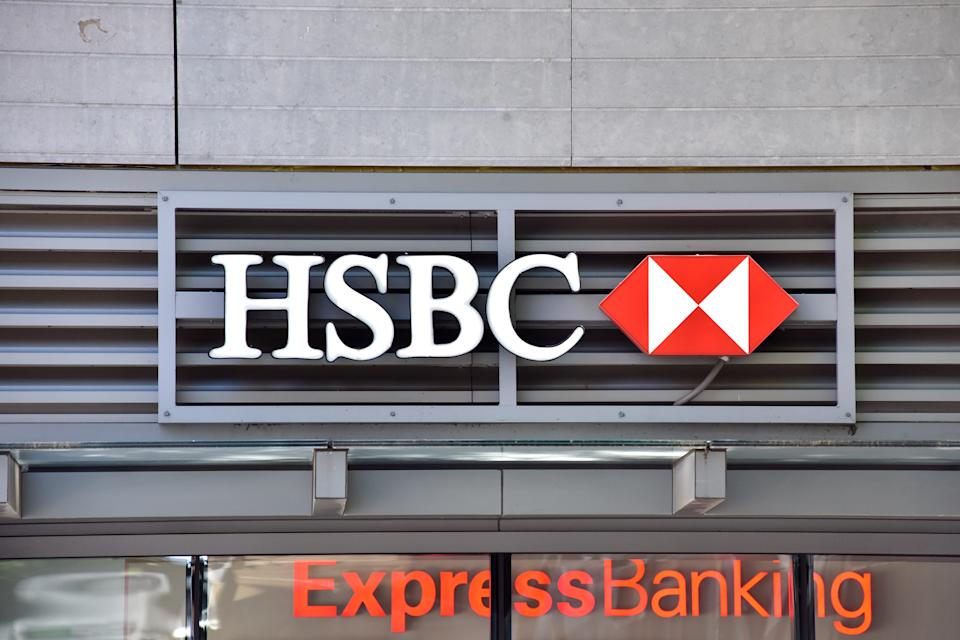 NEW YORK, NEW YORK - JUNE 17: Scene of an HSBC branch on Wednesday, June 17, 2020. According to Reuters news agency, HSBC, the biggest bank in Europe plans to eliminate 35,000 jobs worldwide, as it continues to struggle with the impact of the coronavirus. The value of HSBC stock has fallen by over 25% since the onset of the pandemic.  (Photo by Joana Toro/VIEWpress via Getty Images)