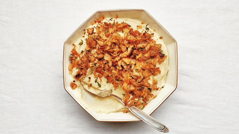 "<a href=""https://www.bonappetit.com/recipe/mashed-potatoes-with-crispety-cruncheties?mbid=synd_yahoo_rss"" rel=""nofollow noopener"" target=""_blank"" data-ylk=""slk:See recipe."" class=""link rapid-noclick-resp"">See recipe.</a>"