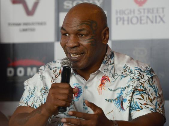 Mike Tyson has teased a boxing comeback (AFP/Getty)
