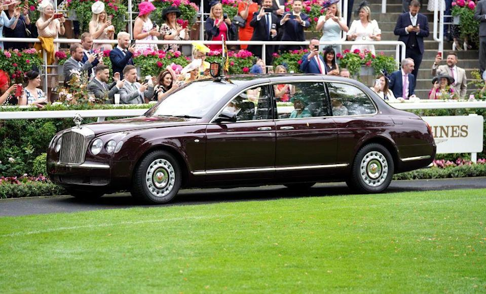 <p>The Queen was accompanied on her drive by her lady in waiting, Lady Susan Hussey.</p>