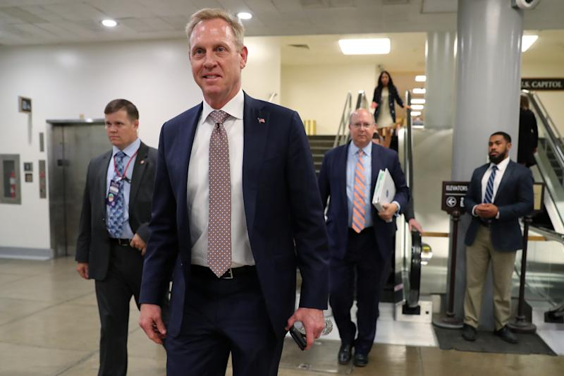 U.S. acting Secretary of Defense Patrick Shanahan walks through the subway system at the U.S. Capitol in Washington, U.S., June 5, 2019. REUTERS/Jonathan Ernst