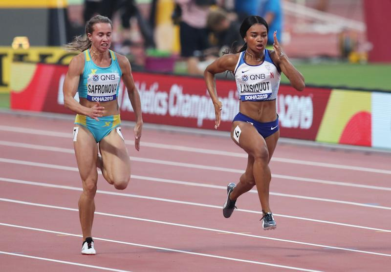 Lansiquot competed in the 100m at last year's World Athletics Championships © Reuters