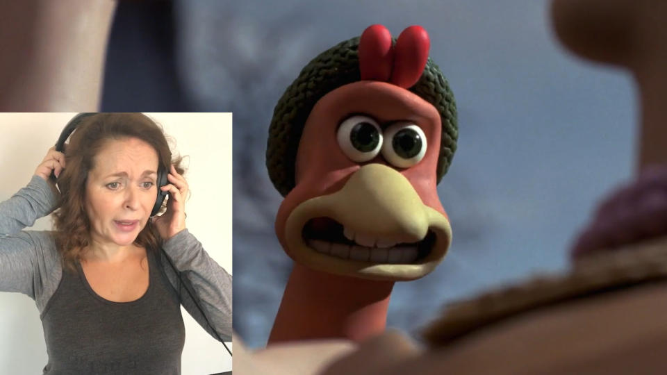 Julia Sawalha released a video comparing clips of Ginger from 'Chicken Run' with new recordings of her voice. (Credit: Julia Sawalha/Vimeo)