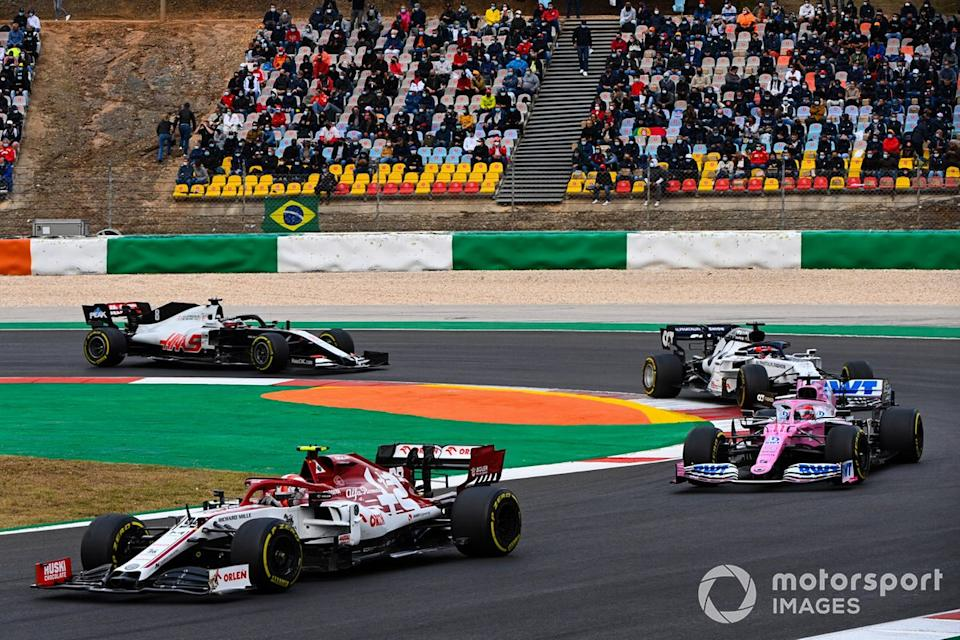 "Antonio Giovinazzi, Alfa Romeo Racing C39, Sergio Pérez, Racing Point RP20, Daniil Kvyat, AlphaTauri AT01, Romain Grosjean, Haas VF-20<span class=""copyright"">Mark Sutton / Motorsport Images</span>"