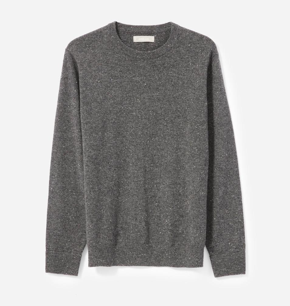 """<p>You can't go wrong with a classic crewneck sweater made of 100 percent cashmere. Without compromising on quality, the folks at Everlane have constructed a soft yet durable wardrobe essential you know he'll wear all year long. <br><strong><a rel=""""nofollow noopener"""" href=""""https://fave.co/2SV69hi"""" target=""""_blank"""" data-ylk=""""slk:Shop it"""" class=""""link rapid-noclick-resp"""">Shop it</a>:</strong> $100, <a rel=""""nofollow noopener"""" href=""""https://fave.co/2SV69hi"""" target=""""_blank"""" data-ylk=""""slk:everlane.com"""" class=""""link rapid-noclick-resp"""">everlane.com</a> </p>"""