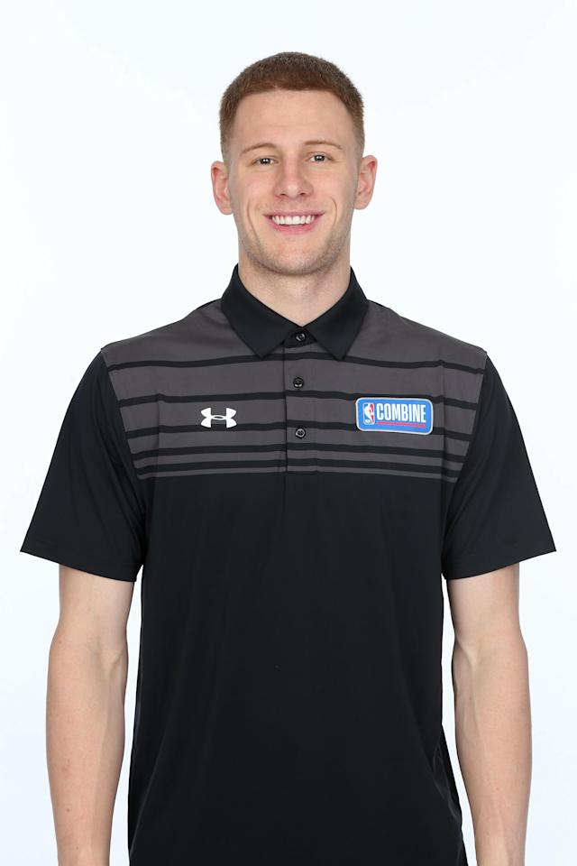 CHICAGO, IL - MAY 19: Donte DiVincenzo poses for a head shot at the Body Image station for the Medical Evaluation portion of the 2018 NBA Combine powered by Under Armour on May 19, 2018 at Northwestern Memorial Hospital in Chicago, Illinois. (Photo by Gary Dineen/NBAE via Getty Images)