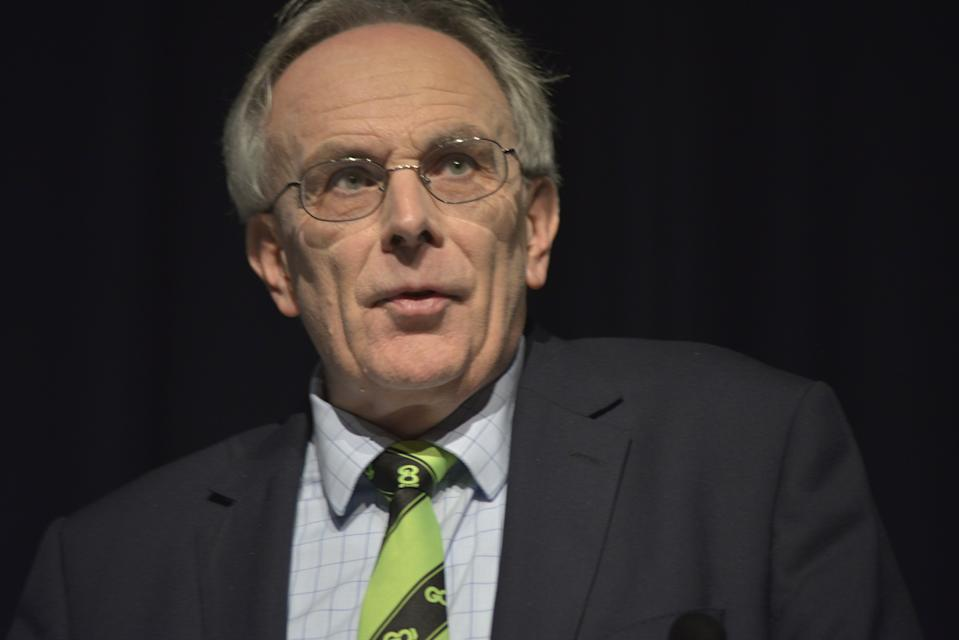 Peter Bone MP, member of the United Kingdom Parliament for Wellingborough, speaking at the Grassroots Out campaign event in Manchester, Greater Manchester, England, United Kingdom on Friday 5th February 2016. Peter Bone is a co-founder of the Grassroots Out campaign. The Grassroots Out campaign seeks to take the United Kingdom out of the European Union. (Photo by Jonathan Nicholson/NurPhoto) (Photo by NurPhoto/NurPhoto via Getty Images)