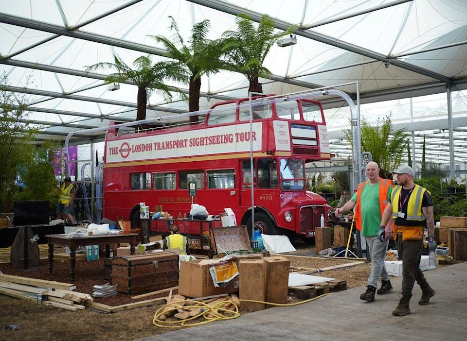A double-decker bus forms part of one display (Yui Mok/PA) (PA Wire)