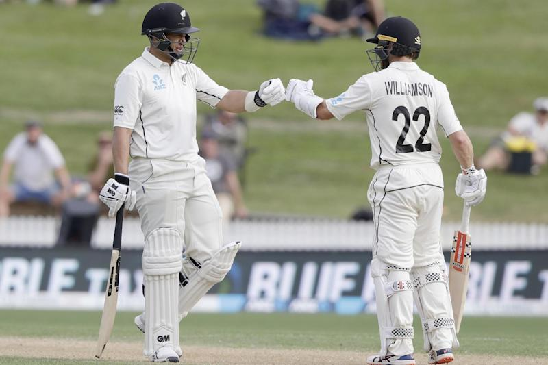 Ross Taylor and Kane Williamson safely guided New Zealand to stumps (AP)