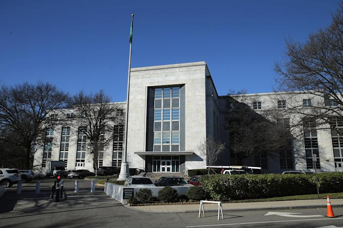 The Saudi Arabian Embassy in Washington. (Chip Somodevilla/Getty Images)