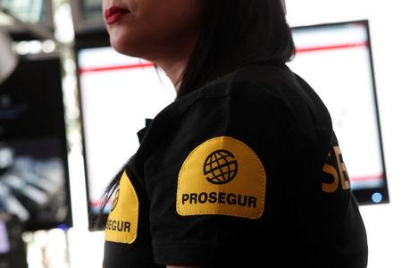"An employee of Prosegur works in the ""3117"" emergency call centre against sexual harassment on transport at the Saint-Lazare train station, in Paris"