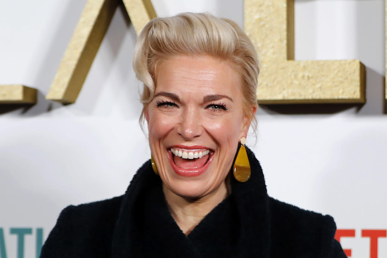 Hannah Waddingham has been nominated for an Emmy for her role in Ted Lasso. (Reuters
