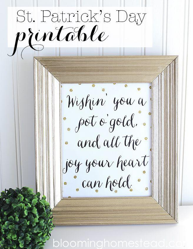 """<p>You can print out this sweet message to put in a frame for St. Patrick's Day.</p><p><strong>Get the tutorial at <a href=""""http://www.bloominghomestead.com/2015/02/st-patricks-day-printable.html"""" rel=""""nofollow noopener"""" target=""""_blank"""" data-ylk=""""slk:Blooming Homestead"""" class=""""link rapid-noclick-resp"""">Blooming Homestead</a>.</strong></p><p><strong><strong><strong><a class=""""link rapid-noclick-resp"""" href=""""https://www.amazon.com/Neenah-Cardstock-Heavy-Weight-Brightness-91437/dp/B07D4YF3K4/?tag=syn-yahoo-20&ascsubtag=%5Bartid%7C10050.g.4036%5Bsrc%7Cyahoo-us"""" rel=""""nofollow noopener"""" target=""""_blank"""" data-ylk=""""slk:SHOP CARDSTOCK"""">SHOP CARDSTOCK</a></strong></strong><br></strong></p>"""