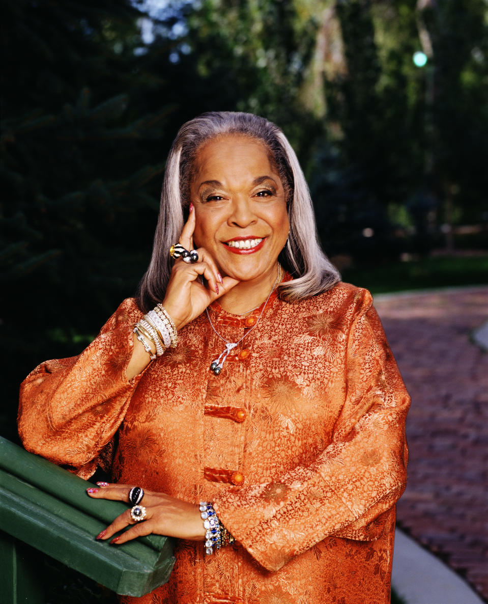 """<p>While she first came to prominence as a jazz and gospel singer, Reese was best known for playing Tess in <i>Touched by an Angel</i> from 1994 to 2003. She died on Nov. 19 at the age of 86. """"She was an incredible wife, mother, grandmother, friend, and pastor, as well as an award-winning actress and singer,"""" Roma Downey, Reese's <i>Touched by an Angel</i> co-star, said in a statement. """"Through her life and work she touched and inspired the lives of millions of people."""" (Photo: Getty Images) </p>"""