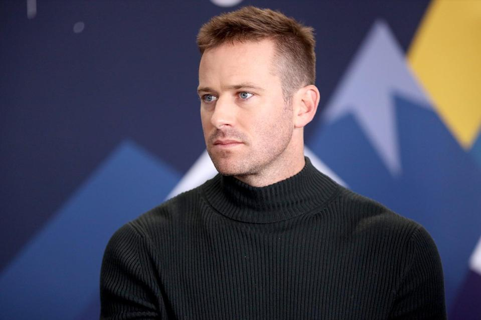 PARK CITY, UT - JANUARY 26:  Armie Hammer of 'Wounds' attends The IMDb Studio at Acura Festival Village on location at The 2019 Sundance Film Festival - Day 2  on January 26, 2019 in Park City, Utah.  (Photo by Rich Polk/Getty Images for IMDb)