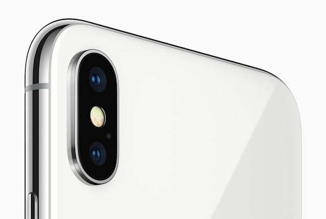 The iPhone X gets a 12-MP, dual-lens camera.