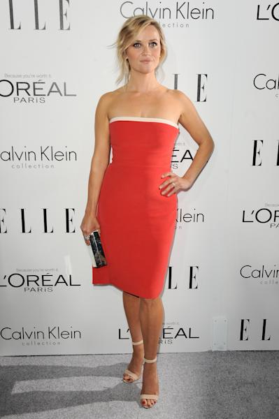 "Actress Reese Witherspoon arrives at the ELLE 20th annual ""Women in Hollywood"" event at the Four Seasons Hotel on Monday, Oct. 21, 2013 in Los Angeles. (Photo by Jordan Strauss/Invision/AP)"