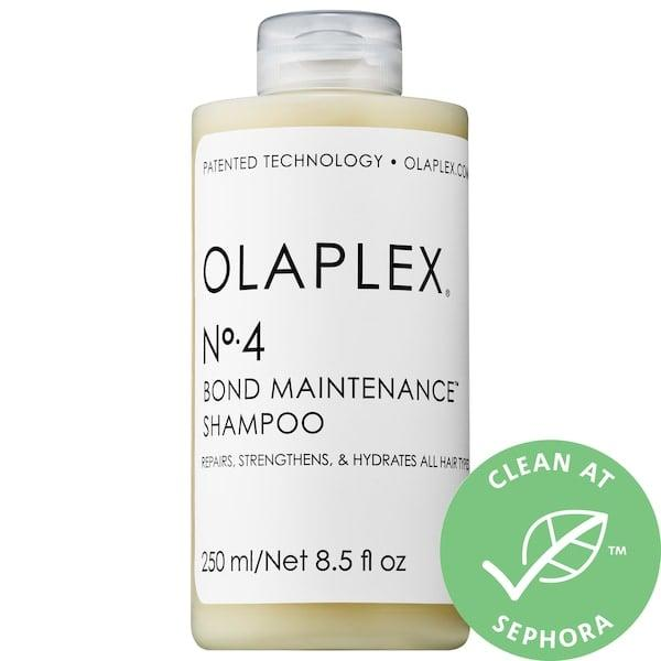 """<p>This <a href=""""https://www.popsugar.com/buy/Olaplex-4-Bond-Maintenance-Shampoo-551689?p_name=Olaplex%20No.%204%20Bond%20Maintenance%20Shampoo&retailer=sephora.com&pid=551689&price=28&evar1=bella%3Aus&evar9=47505541&evar98=https%3A%2F%2Fwww.popsugar.com%2Fbeauty%2Fphoto-gallery%2F47505541%2Fimage%2F47505552%2FOlaplex-No-4-Bond-Maintenance-Shampoo&list1=shopping%2Csephora%2Chair%20products%2Cbeauty%20shopping%2Cclean%20beauty&prop13=mobile&pdata=1"""" rel=""""nofollow"""" data-shoppable-link=""""1"""" target=""""_blank"""" class=""""ga-track"""" data-ga-category=""""Related"""" data-ga-label=""""https://www.sephora.com/product/no-4-bond-maintenance-shampoo-P433172?icid2=products%20grid:p433172"""" data-ga-action=""""In-Line Links"""">Olaplex No. 4 Bond Maintenance Shampoo</a> ($28) is a bestseller, and one of those cult products that once you try it, you won't be able to live without it.</p>"""