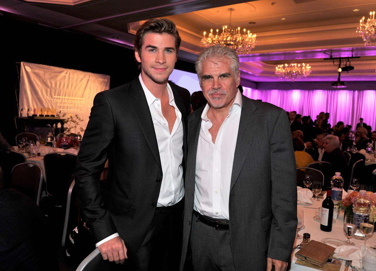 CENTURY CITY, CA - JUNE 27:  Actor Liam Hemsworth and Director Gary Ross attend Australians In Film Awards & Benefit Dinner at InterContinental Hotel on June 27, 2012 in Century City, California.  (Photo by Toby Canham/Getty Images for AIF)