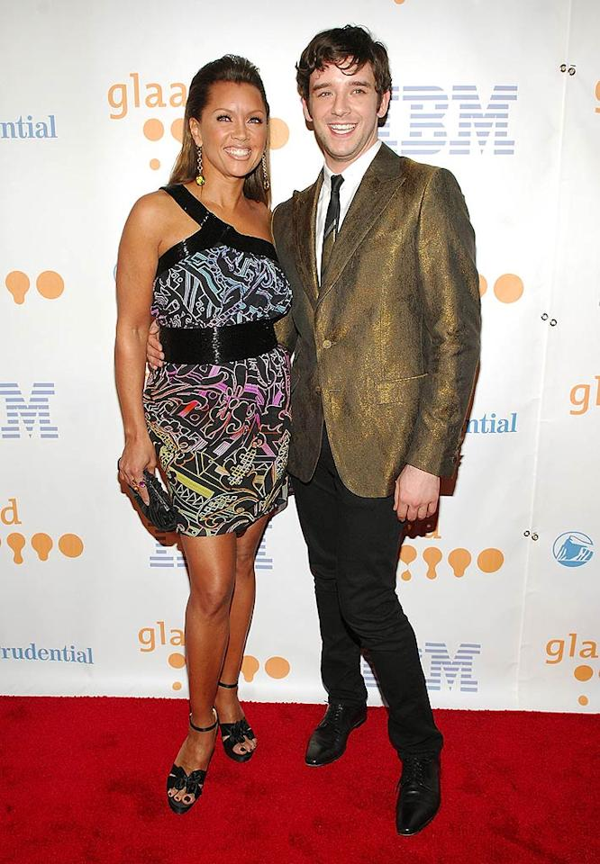 """""""Ugly Betty's"""" Vanessa Williams showed off her gams in a multi-colored print mini, while her costar, Michael Urie, donned a golden suit jacket that looked reminiscent of something the cast of """"The Jersey Boys"""" might wear. Rob Loud/<a href=""""http://www.gettyimages.com/"""" target=""""new"""">GettyImages.com</a> - March 28, 2009"""