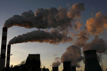 Smoke billows from the chimneys of Belchatow Power Station, Europe's largest coal-fired power plant, in Belchatow October 31, 2013. REUTERS/Kacper Pempel/Files