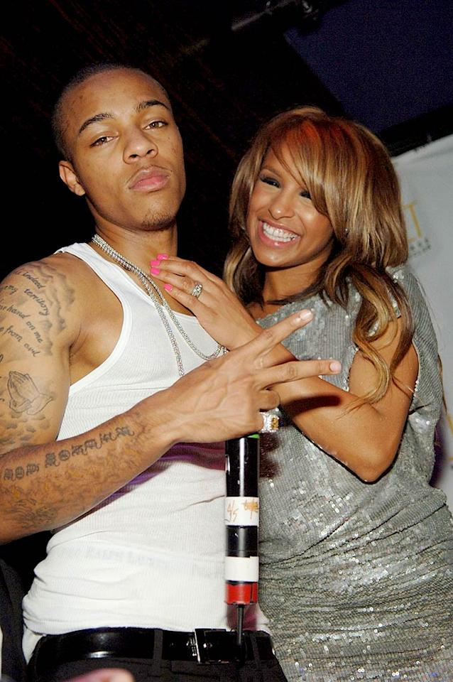 """Shad Moss, better known as Bow Wow, celebrates his 21st birthday at Jet nightclub in Las Vegas with his """"Pussycat Doll"""" girlfriend, Melody Thornton. Denise Truscello/<a href=""""http://www.wireimage.com"""" target=""""new"""">WireImage.com</a> - March 15, 2008"""