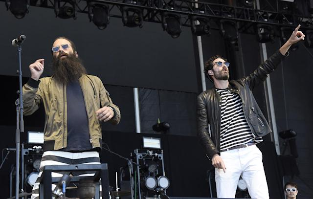 <p>Sebu Simonian (L) and Ryan Merchant of Capital Cities perform during the 2017 Life is Beautiful Festival on September 23, 2017 in Las Vegas, Nevada.<br>(Photo by Tim Mosenfelder/Getty Images) </p>