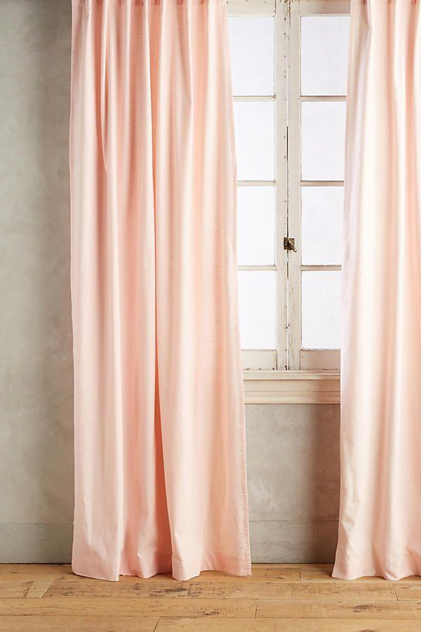 """<p>Pink curtains are a great way to introduce more light into your room.</p><p><strong>Anthropologie</strong> Parker Curtain, $58, available at <a href=""""https://www.anthropologie.com/shop/parker-curtain5?color=066&quantity=1&type=REGULAR"""" rel=""""nofollow noopener"""" target=""""_blank"""" data-ylk=""""slk:Anthropologie"""" class=""""link rapid-noclick-resp"""">Anthropologie</a></p>"""