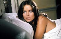 <p>Amasova is KGB agent Triple X. She teams up with Bond and vows to kill him when their mission is over. Between Bond's charm and Amasova's bedroom eyes and glossy pout, the pairing is inevitable, and the two flee in a submarine escape pod. Fun fact: Off-screen, Bach is Ringo Starr's wife. <i>(Photo: Everett Collection)</i></p>