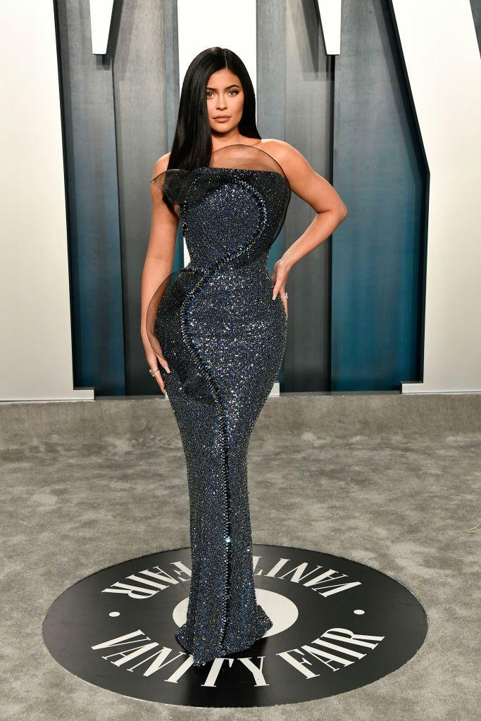 <p>Jenner wore Ralph & Russo to the 2020 Vanity Fair Oscar Party.</p>