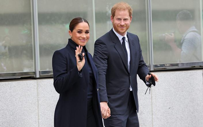 The Duke And Duchess Of Sussex visit the One World Observatory in New York - WireImage