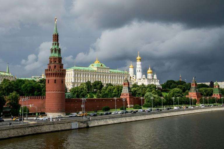 An unexploded World War II aviation bomb was found in the grounds of the Kremlin in Moscow during construction works, and was removed, Russian news agencies reported. (AFP Photo/Mladen ANTONOV)