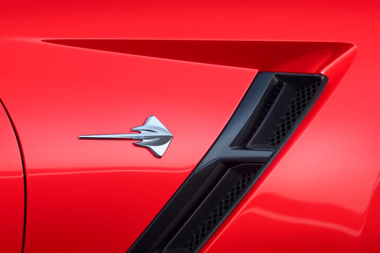 New Stingray badge; GM hasn't used the name since 1977