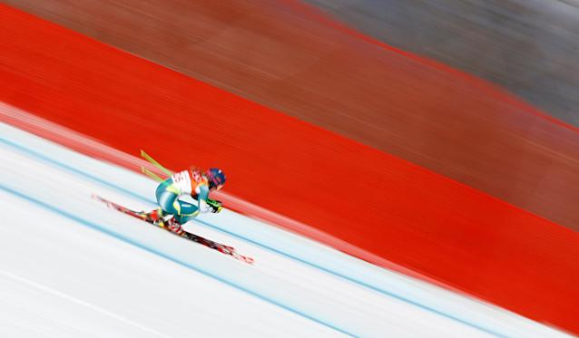 """Alpine Skiing - Pyeongchang 2018 Winter Olympics - Women's Downhill - Jeongseon Alpine Centre - Pyeongchang, South Korea - February 21, 2018 - Greta Small of Australia competes. REUTERS/Dominic Ebenbichler SEARCH """"OLYMPICS BEST"""" FOR ALL PICTURES. TPX IMAGES OF THE DAY."""