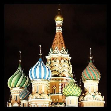 The Kremlin at night. (#NickInEurope)