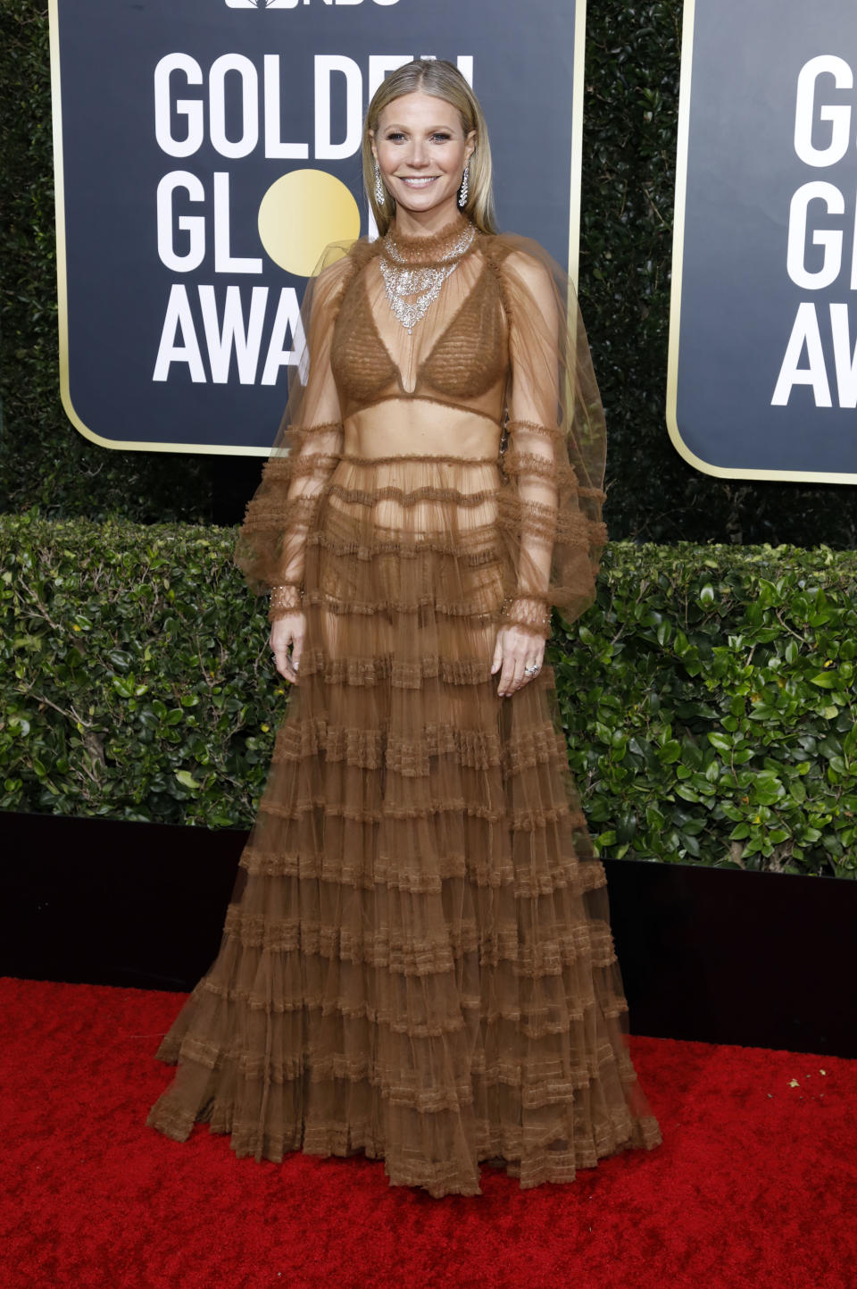 LOS ANGELES, CALIFORNIA, UNITED STATES - JANUARY 5, 2020 -                          Gwyneth Paltrow photographed on the red carpet of the 77th Annual Golden Globe Awards at The Beverly Hilton Hotel on January 05, 2020 in Beverly Hills, California.- PHOTOGRAPH BY P. Lehman / Barcroft Media (Photo credit should read P. Lehman / Barcroft Media via Getty Images)
