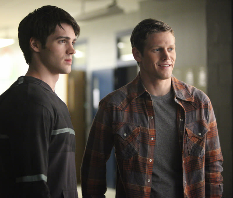 """Steven R. McQueen as Jeremy and Zach Roerig as Matt in """"We All Go a Little Mad Sometimes,"""" the sixth episode of """"The Vampire Diaries"""" Season 4."""