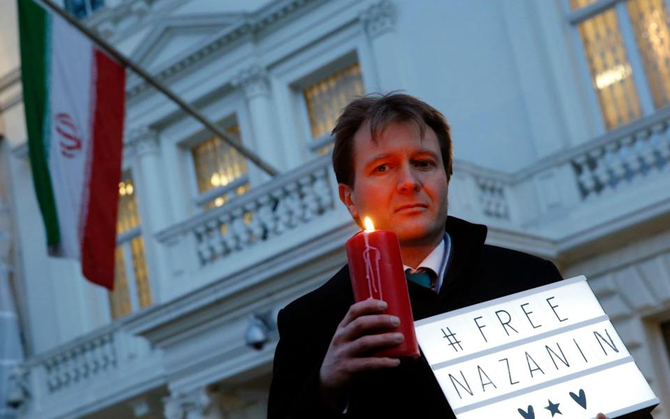 Richard Ratcliffe has been campaigning for his wife's release - AP Photo/Alastair Grant, file