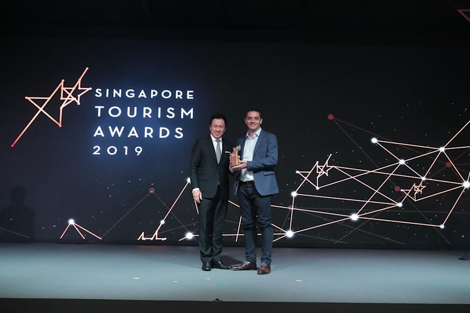 Chef Julian Royer receives Best Dining Experience Award. (PHOTO: SIngapore Tourism Board)