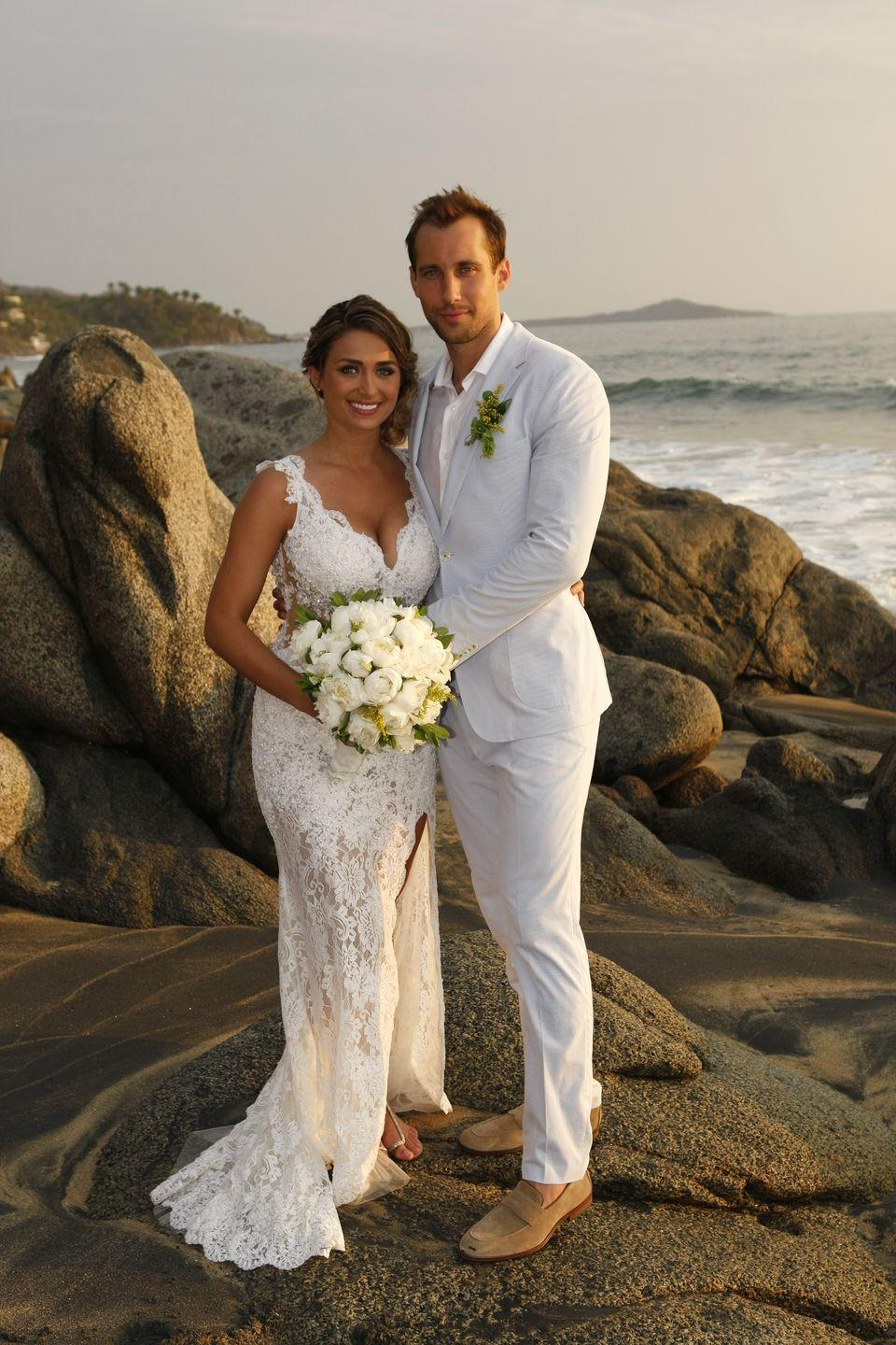 """<p><em>Paradise</em>'s golden couple from season 1 seemed like they were the perfect pair. They even got married on the premiere of season 2 and were the first <em>BiP</em> couple to have their own televised wedding. </p><p>But wedded bliss didn't last long. Lacy and Marcus split up a few months after their wedding and then revealed their marriage was never official legally. """"When we came back, we were supposed to start the paperwork, but she stalled,"""" Marcus told <a href=""""https://www.lifeandstylemag.com/posts/bachelor-in-paradise-marcus-grodd-lacy-faddoul-marriage-breakup-105212/"""" rel=""""nofollow noopener"""" target=""""_blank"""" data-ylk=""""slk:Life & Style"""" class=""""link rapid-noclick-resp""""><em>Life & Style</em></a>. She apparently suggested he get his own place and then completely cut off communication, essentially ghosting him.</p>"""