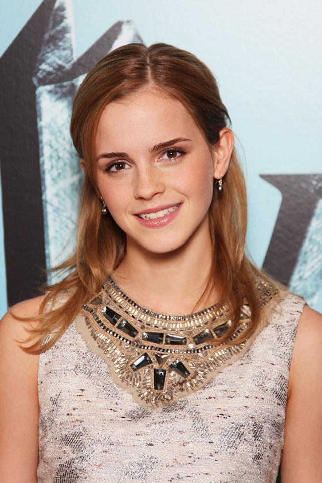 "Audiences fell in love with Emma Watson in the role of smart, sassy, and long-haired Hermione Granger in the ""Harry Potter"" flicks, which premiered when she was just 11. Gareth Davies/Mission/<a href=""http://www.gettyimages.com/"" target=""new"">GettyImages.com</a> - July 6, 2009"