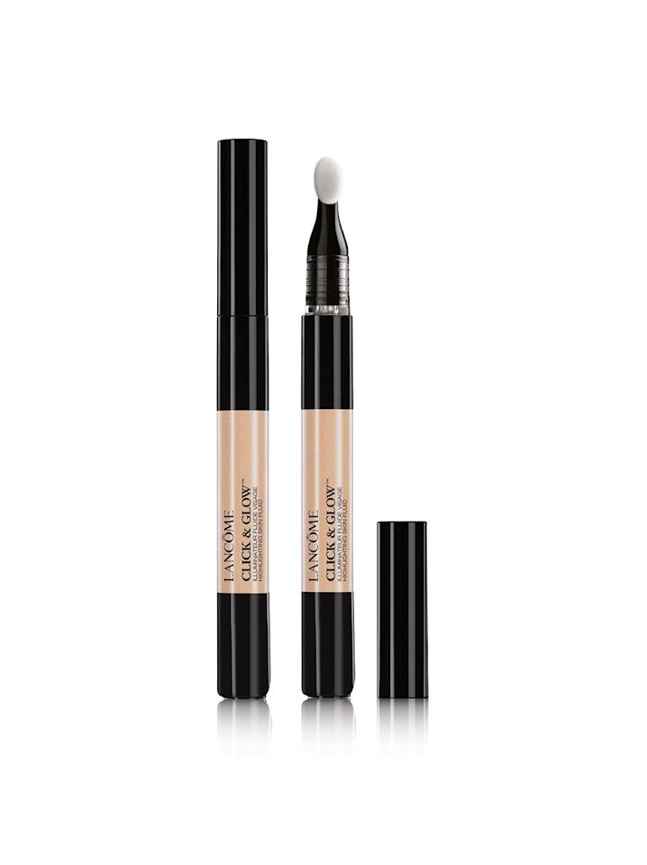 """<p>Any product that can make our peepers, pout and cheekbones pop is a must in our book. No wonder <a rel=""""nofollow"""" href=""""http://www.brides.com/story/how-to-apply-highlighter-that-perfect-wedding-glow?mbid=synd_yahoolife"""">highlighter</a> is one of the biggest beauty trends out there. No highlighter experience? No problem. Lancôme's new strobing pens make it super easy to illuminate all your best features. It goes on silky smooth and leaves skin with that subtle hint of shimmer. <em>($23, <a rel=""""nofollow"""" href=""""http://www.lancome-usa.com/makeup/face/contouring-and-highlighting/click-and-glow-liquid-highlighter/3605971242489.html?mbid=synd_yahoolife"""">Lancôme</a>)</em></p>"""