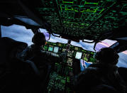 Image of the interior of a Royal Air Force Atlas A400M transport aircraft, as it fly's over the South Atlantic Islands of South Georgia (Picture: UK MOD/Crown 2019)
