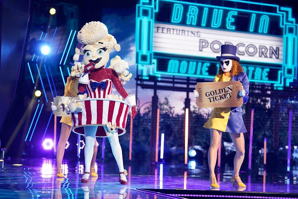 """THE MASKED SINGER: Popcorn in the """"The Semi Finals - The Super Six"""" episode of THE MASKED SINGER airing Wednesday, Dec. 2 (8:00-10:00 PM ET/PT) on FOX. © 2020 FOX MEDIA LLC. CR: Michael Becker/FOX."""