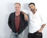 Musicians Sting and Shaggy are seen at Sting and Shaggy Portrait Session at 520 West 28th by Zaha Hadid on Monday, April 23, 2018, in New York New York. (Photo by [Brian Ach]/Invision/AP)