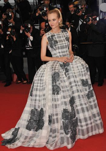 """<b>Who:</b> Diane Kruger<br>  <b>What:</b> Christian Dior Couture gown<br>  <b>Where:</b> <em>Therese Desqueyroux</em> premiere<br>  <b>Why We Love It:</b> When one of the best dressed women in  the world is a judge at the most glamorous film fest on earth, you know  you're in for a good show. Kruger didn't disappoint. The German actress <a href=""""http://www.flare.com/celebrity/gallery/62531--look-book-diane-kruger-s-style"""">pulled out all the stops</a>, dressing in <a href=""""http://www.flare.com/blog/post/62506--cannes-diane-kruger-proves-fashion-invincibility-at-jury-photocall"""">sexy, modern dresses for daytime photocalls</a>  and breaking into all-out glamour for the evening premieres. It's  difficult to pick a favourite (the little Versus dresses, the liquid  Vivienne Westwood…how to choose?), so we'll leave you with Kruger's  parting look, a light-as-air ball gown with panniers that have presence  on Cannes' colossal red carpet. <br> Photo by Keystone Press         <br> <br> <b>More on Flare:</b><br> <br> <a target=""""_blank"""" href=""""http://www.flare.com/beauty/hairstyles/gallery/62743--9-floral-headbands-inspired-by-kirsten-dunst-at-cannes"""">9 floral headbands inspired by Kirsten Dunst at Cannes</a><br>"""
