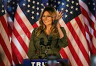 First Lady Melania Trump has been an infrequent presence on the campaign trail but finally hit the stump for her husband in Pennsylvania, a key battleground state, a week before Election Day