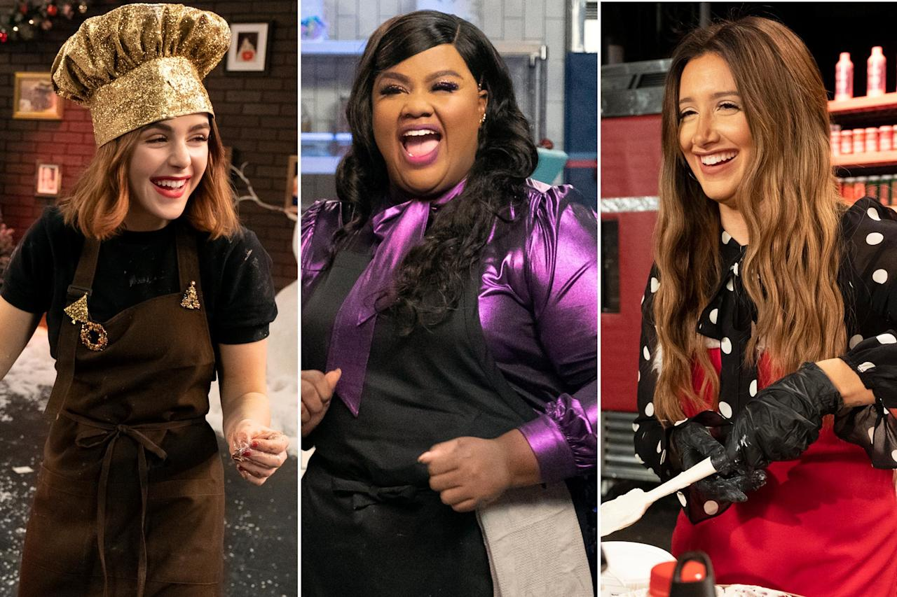 "Talk about a merry Christ<em>mess</em>.  In a new holiday baking battle of epic proportions, stars of Netflix's holiday programming (including <i>Merry Happy Whatever, <a href=""https://ew.com/movies/2019/11/08/kiernan-shipka-isabela-merced-let-it-snow-netflix-interview/"">Let It Snow</a>, </i>and <i>Sugar Rush Christmas</i>) are coming together to compete in themed challenges to become the first-ever <em>Sleighed It!</em> champion.   <em><a href=""https://ew.com/creative-work/nailed-it/"">Nailed It!</a></em>'s <a href=""https://ew.com/tag/nicole-byer/"">Nicole Byer</a> and Jacques Torres host the new series, which features three episodes filled with holiday spirit, unlimited laughs, and hilarious dessert creations.   The first episode, which is available now (<a href=""https://youtu.be/koV0SNPwrcQ"">click here to watch on YouTube</a>), features <em>Merry Happy Whatever</em>'s <a href=""https://ew.com/tag/ashley-tisdale/"">Ashley Tisdale</a> and Brent Morin, who compete to see who can make the best Christmas Caroling Snowman inspired by the holiday show.  In episode 2 (out Nov. 26), <a href=""https://ew.com/tag/kiernan-shipka/"">Kiernan Shipka</a>, Jacob Batalon, and Isabela Merced actually work together to assemble an epic three-foot-tall gingerbread waffle house to celebrate the iconic diner in their film, <em>Let It Snow</em>.   The third and final episode, which streams Nov. 29, will see Byer finally get in on the baking action with <em>Sugar Rush Christmas</em> host Hunter March. The hosting duo teams up against world-renowned pastry chef Adriano Zumbo to re-create an epic King Mouse Cake, which will be judged by <em>Sugar Rush Christmas</em> judge Candace Nelson and Torres.  All episodes of <em>Sleighed It!</em> will be available on <a href=""https://youtu.be/koV0SNPwrcQ"">YouTube</a> and <a href=""https://twitter.com/netflixfamily"">Netflix Family</a> social media channels."