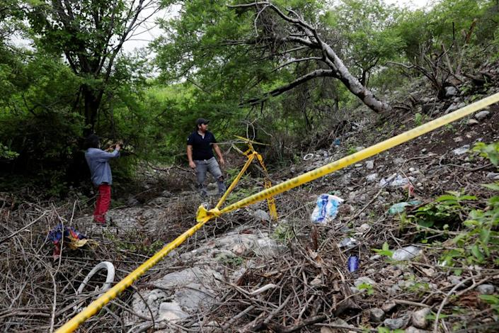 """<div class=""""inline-image__caption""""><p>Some of the remains of Christian Alfonso Rodriguez Telumbre, one of the 43 missing students, was found at the mountain town of Cocula, near Iguala</p></div> <div class=""""inline-image__credit"""">REUTERS/HENRY ROMERO</div>"""