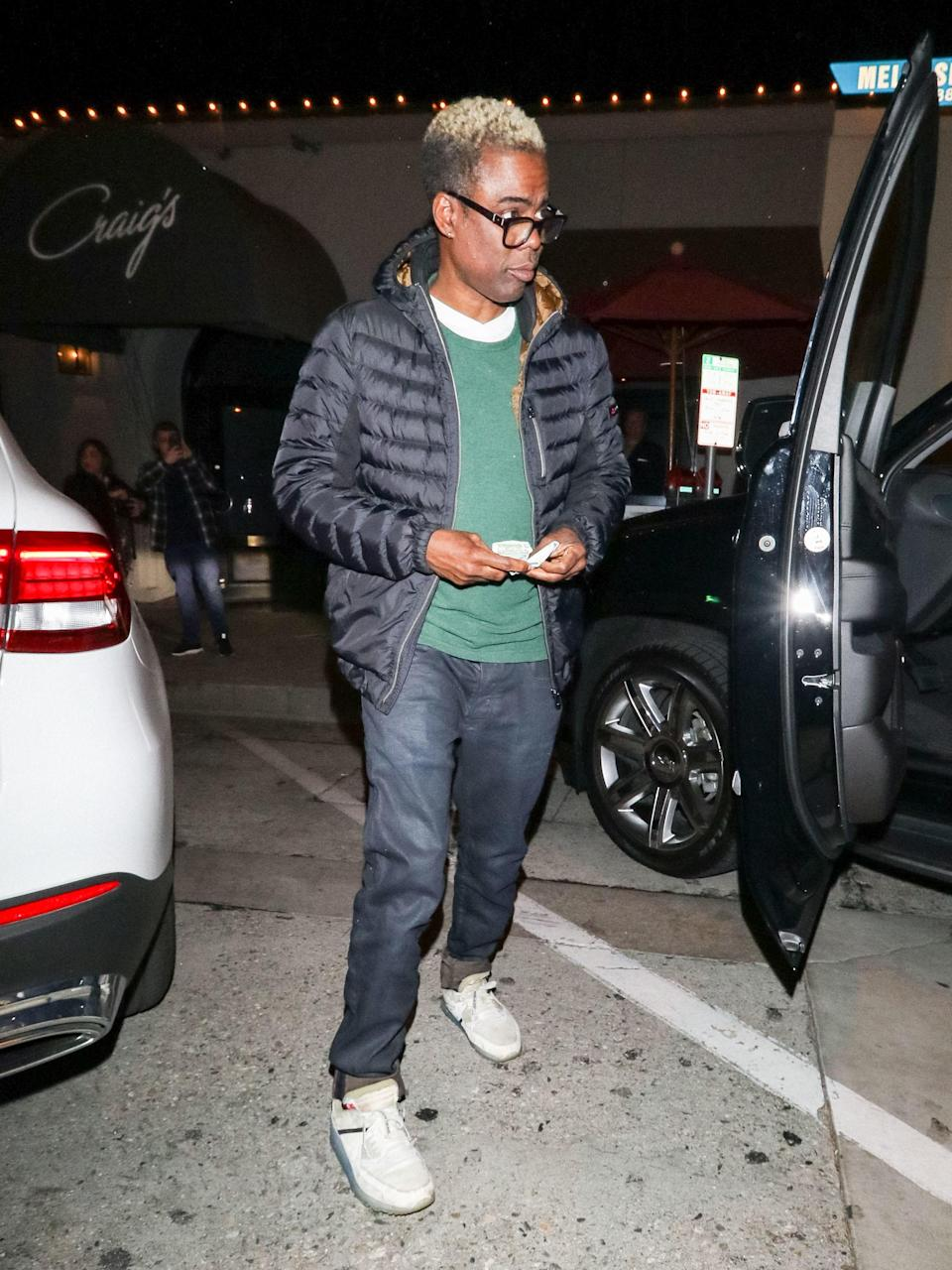 """<h1 class=""""title"""">March 25: Chris Rock</h1> <div class=""""caption""""> Ladies and gentlemen, please welcome Chris Rock to the bleached-hair club. </div> <cite class=""""credit"""">gotpap/Bauer-Griffin</cite>"""